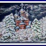 Sobor (église) Russe en hiver