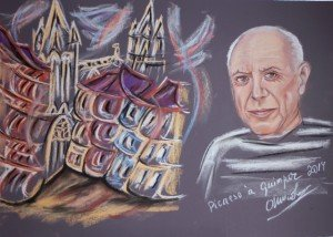 Picasso à Quimper - pastel Sec