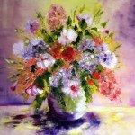Bouquet ensoleillé huile   65X80