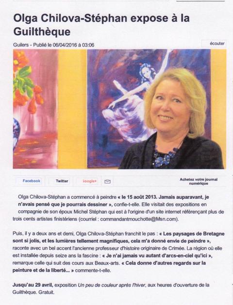 ouest France du 6 avril 2016 001