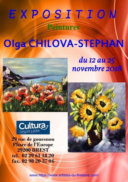 Affiche expo Olga Cultura